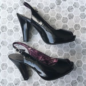 Candies sling back heels size 8